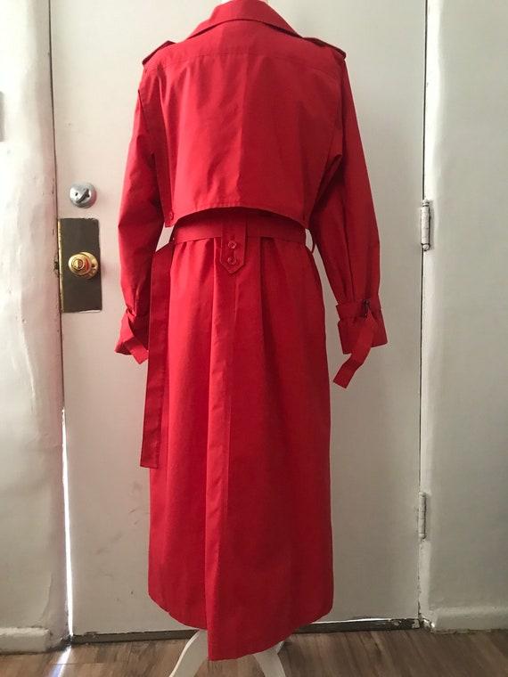 Vintage London Fog Trench coat, red, size 8 regul… - image 3