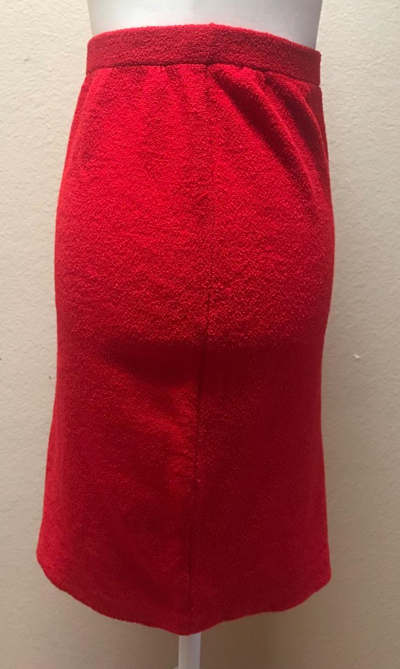 Vintage 1960/'s red knit skirt