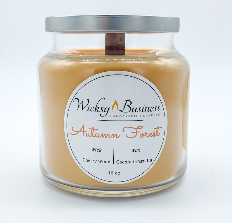 Handcrafted Candles Wood Wick Coconut Paraffin Wax Large