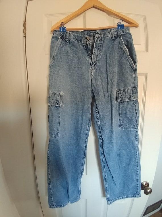 Men/'s,Vintage 90/'s,Beige Colored HIP H0P era CARGO Pants By WRANGLER.32