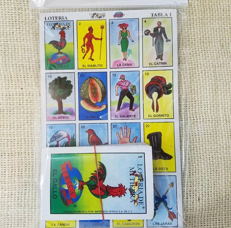 Loteria Mexicana Bingo Game Playing Cards 10boards//54 playing cards