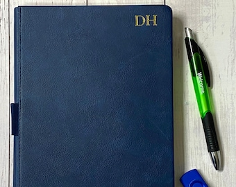 Personalized Thick Classic Notebook with Pen Loop/A5 Wide/Ruled
