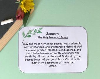 Monthly Devotion Prayer Card Printable