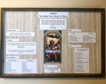 Monthly Liturgical Board August