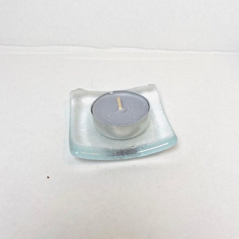 Tea light holder flowery trinket dish