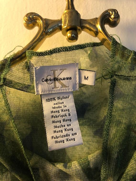 90's Calvin Klein see mesh shirt, 90's Calvin Kle… - image 8