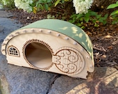 Hobbit Hole Guinea Pig Playhouse - Guinea pig hideout play structure with some magic from The Shire! LOTR Playhouse for your special piggy!