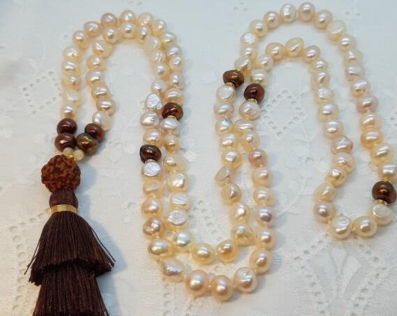 Natural pearl handmade Japa Mala