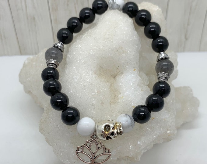 Still I Rise - Skull Lotus Bracelet