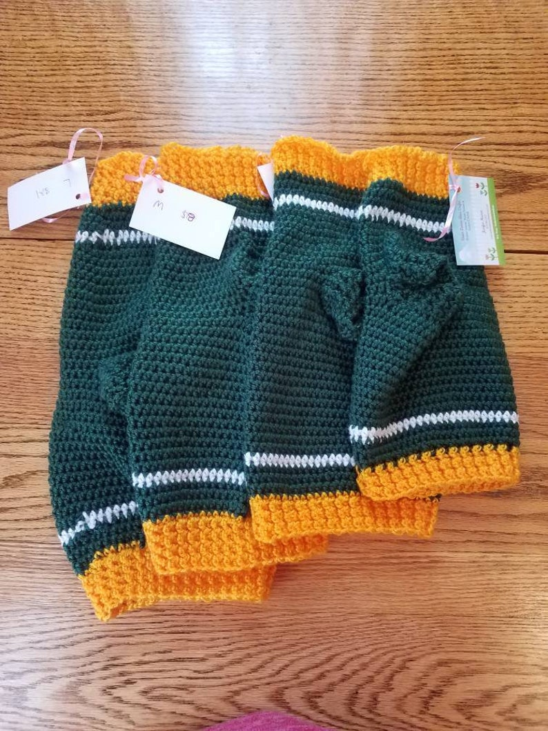 5 Sizes Available--Handmade Green Bay Packers Football Pet Sweaters---Cat or Dog Clothing in X-Small Small Medium /& Custom Large
