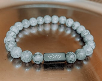 """Map Jasper """"God Is Greater Than The Highs And The Lows"""" Bracelet"""