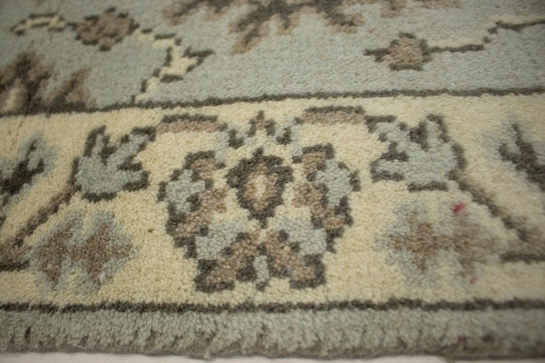 Oriental Natural 5/'11x2/'7 Area Rug Muted Light Gray 3x6 Floral Oushak Chobi Rug Hand Made Home Decor Furnishings