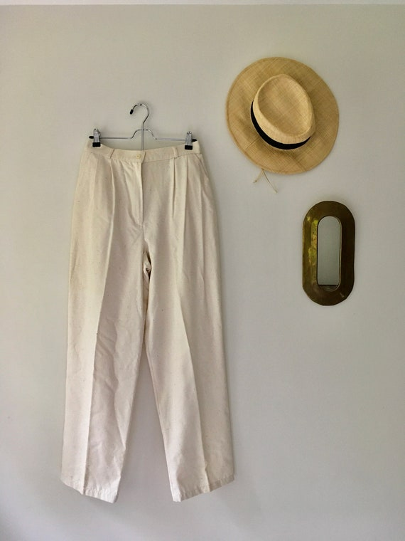 Silk Pleated Trousers