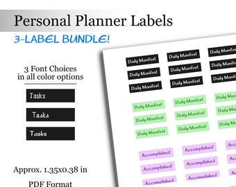 Bundle Pack Colorful Stickers Daily Manifest Planner Personal Planner Labels Accomplished Daily Tasks Goals Bullet Journal Stickers