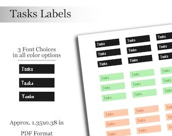 Tasks Planner Journal Labels Printable Stickers Task Labels Personal Growth Journal Stickers Instant Download Planner File Task Tracker