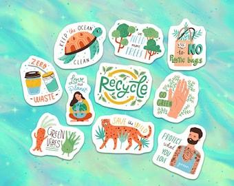 40pcs Eco Friendly Save The Planet Paper Stickers SET 1