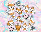 40pcs Kawaii Baby Woodland Fox Paper Stickers
