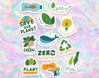 40pcs Eco Friendly Save The Planet Paper Stickers SET 2