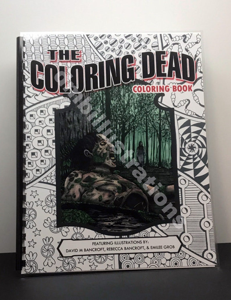 The Coloring Dead Volume 1  A Walking Dead Coloring Book image 0