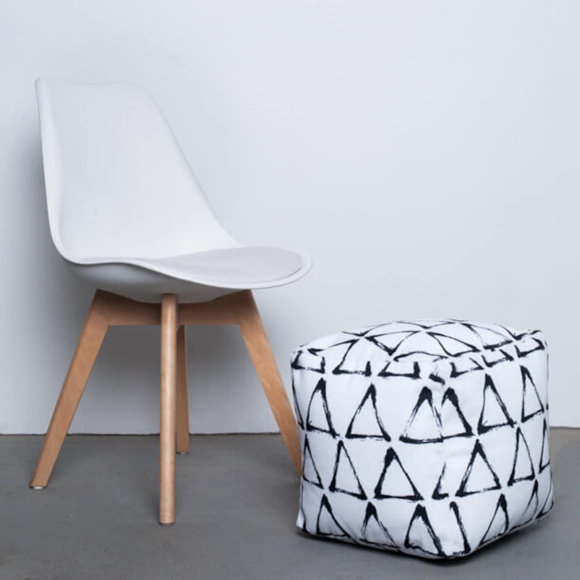 Black And White Print Boob Ottoman | Boob Print Furniture | Breasts Furniture | Boob Foot Rest | funny ottoman | feminist decor | breasts