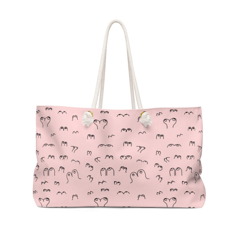 boobs gift boobs gift girly gift pink weekender bag boob luggage boob gift boobs bag boob tote Cute Pink Boob Weekender Bag