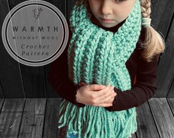 PDF CROCHET PATTERN for the Olive & Forrest super chunky tassel scarf