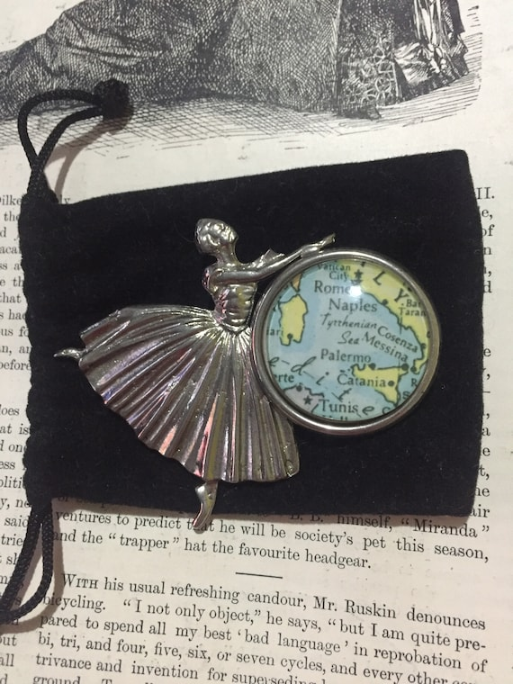 Vintage Europe Ballerina Brooch Rare unusual colle