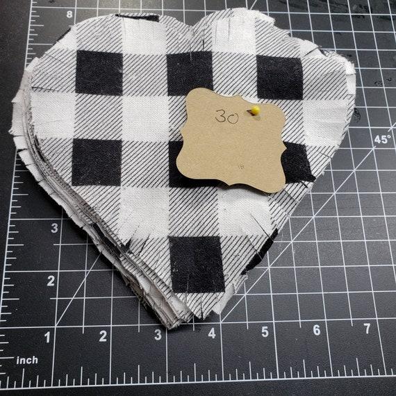 Heart flannel rag quilt