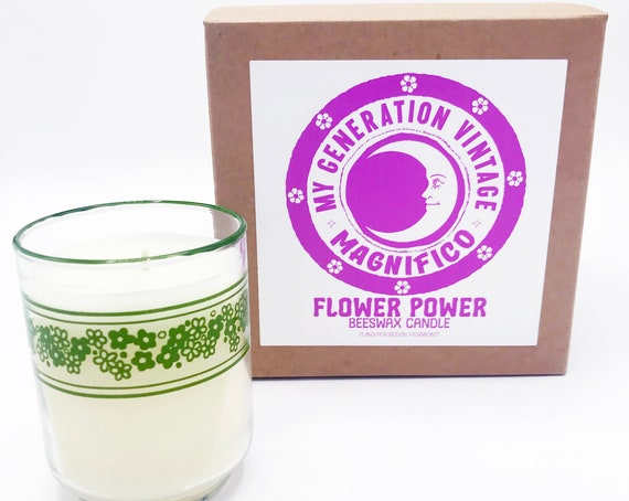 MAGNIFICO X My Generation Vintage Flower Power Candle