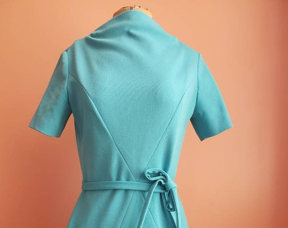 Cocktail in the Afternoon 1960s Aqua Dress by Mr. Jack Dallas
