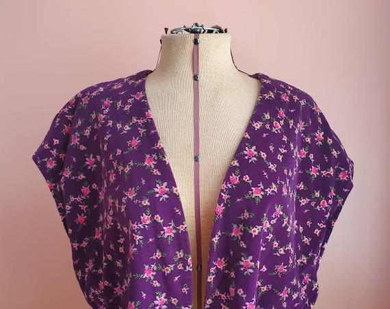 Pleasantly Purple Floral Cape
