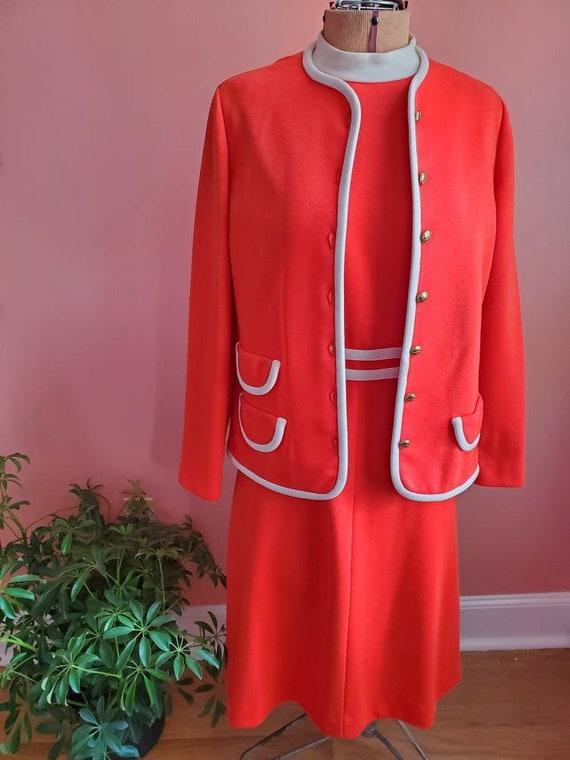 Vintage 1960s Leslie Fay Knits Dress
