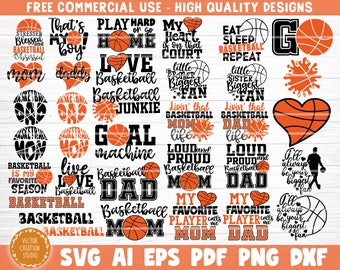 Basketball SVG Bundle, Vector Printable Clipart Cut Files, Love Basketball Svg, Basketball Mom Svg, Basketball Life, Shirt Print Svg