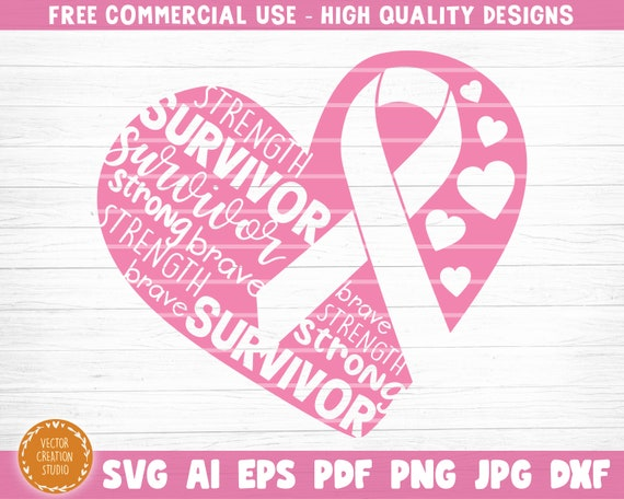 printable vector clip art Fight Cancer SVG Print Cancer Awareness instant download commercial use Refuse To Sink SVG Cut File
