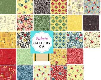 Moda Fabric, Layer Cake, School Days, precuts, kids print, American Jane, squares, plaid/alphabet, quilting cotton, FabricGalleryCA