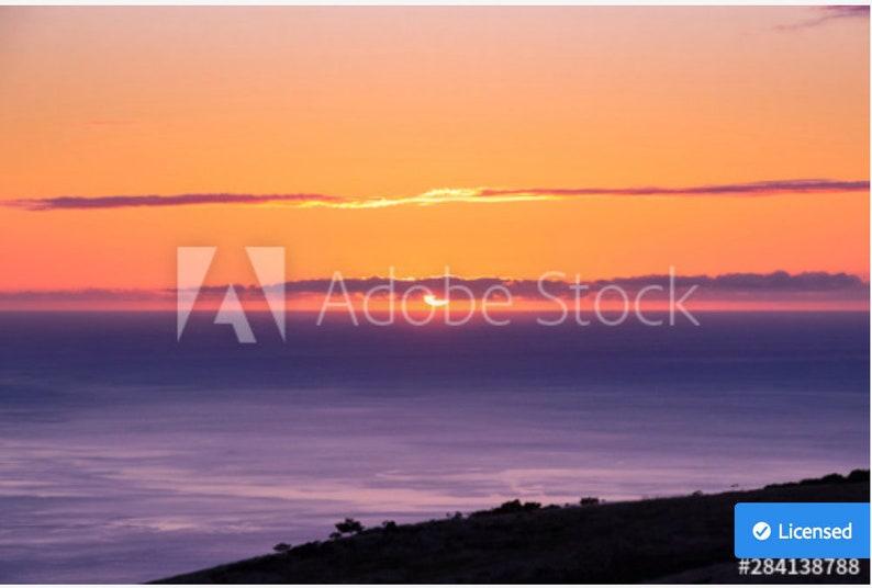 Orange Ocean Sunset image 0