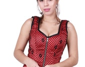 Red Strap Over-Bust corset