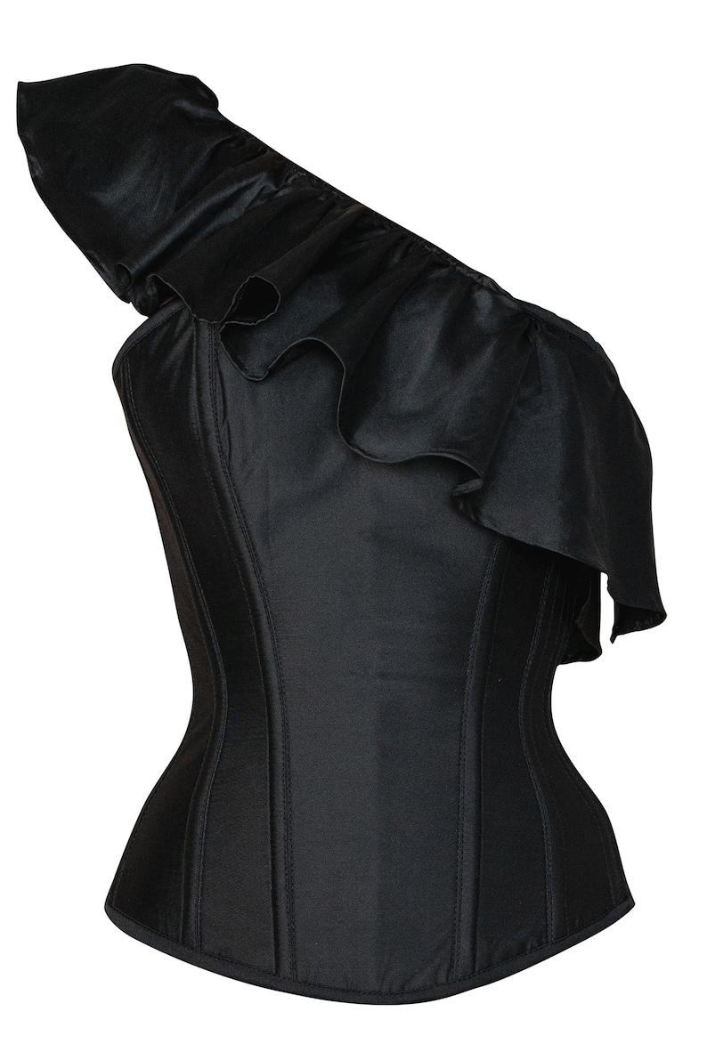 Black one side off shoulder corset