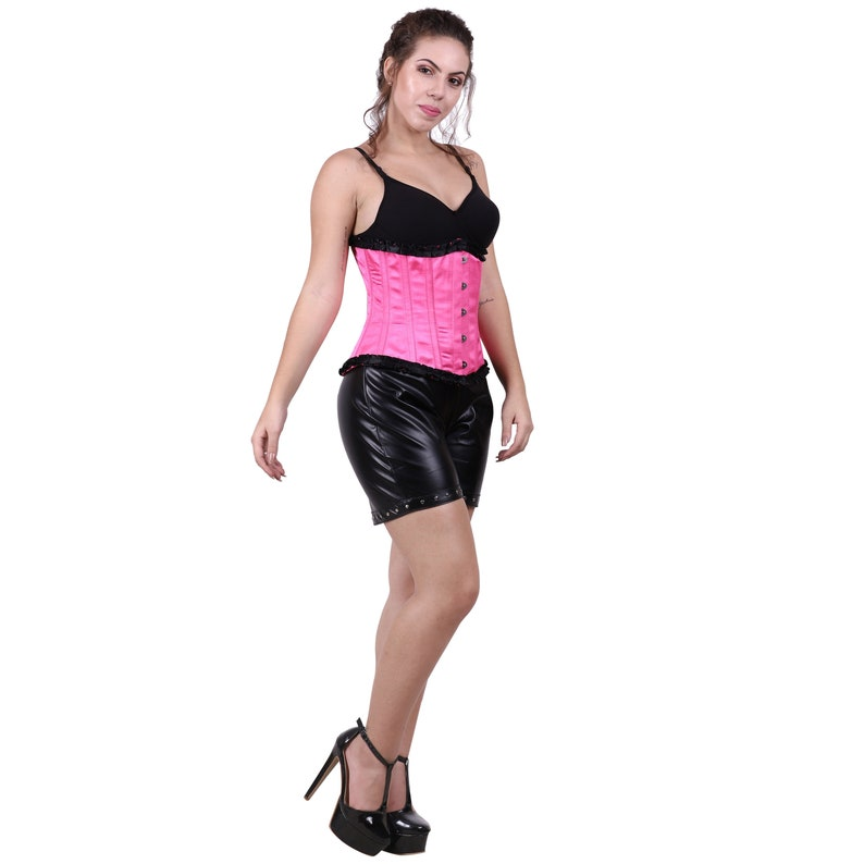 Pink Under-bust Corset with Black pant