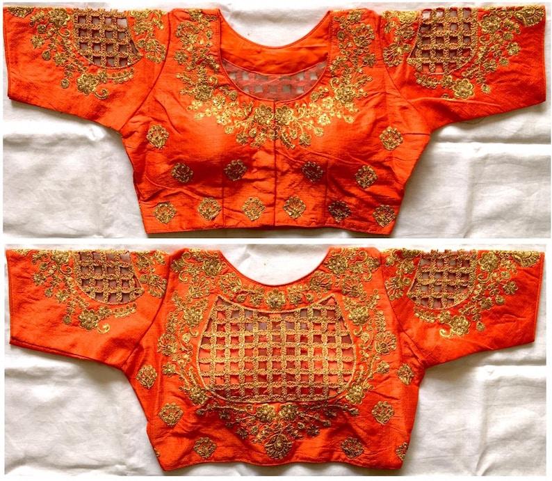 Indian Designer Readymade//Stitched Stretchable Blouse Wedding Choli Saree Sari