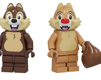 gift toy chipmunk squirrel new 12 CHIP /& DALE Lego Minifigures SEALED