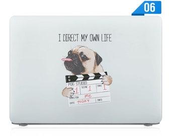 Bag 15 inch Pug Monogram Laptop Cover Dog Laptop Sleeve 13 inch Pug Laptop Sleeve Personalized Macbook Pro Case