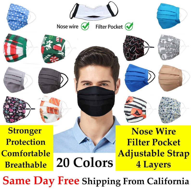 Face Mask with filter and nose wire 4 layers  super image 0