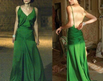 Green Atonement Dress with pockets
