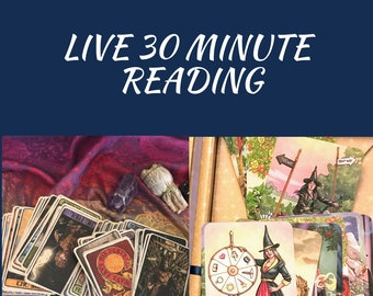 LIVE Tarot  Card Reading  - 30 Minutes - Fast Answers