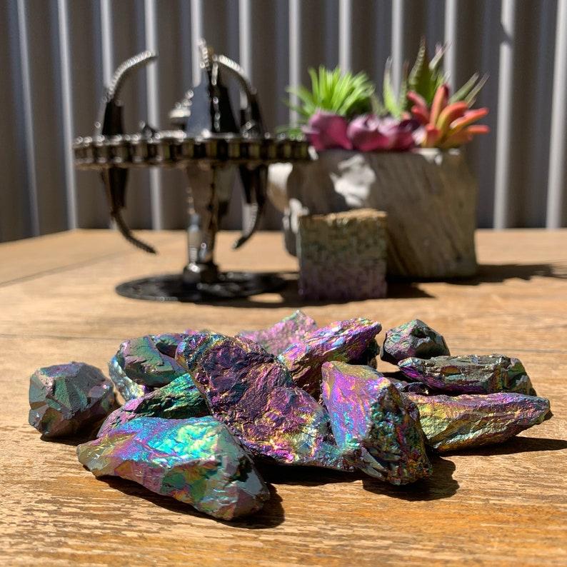 Titanium Rainbow Aura Quartz Mini
