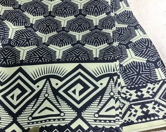 African Print Fabric from Mali 100/% Cotton sold by the yard