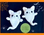 Crochet PATTERN Cat Pocket Doll Amigurumi Halloween Spooky Decor Halloween Ghost Garland Cat Key chain Kitty Pin Cat Lovers Gift