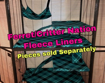 Polka Dot Rainbow Ramp Cover Set of Three for Double Ferret Nation and Critter Nation Cage Liner for Ferret Rat Small Animal