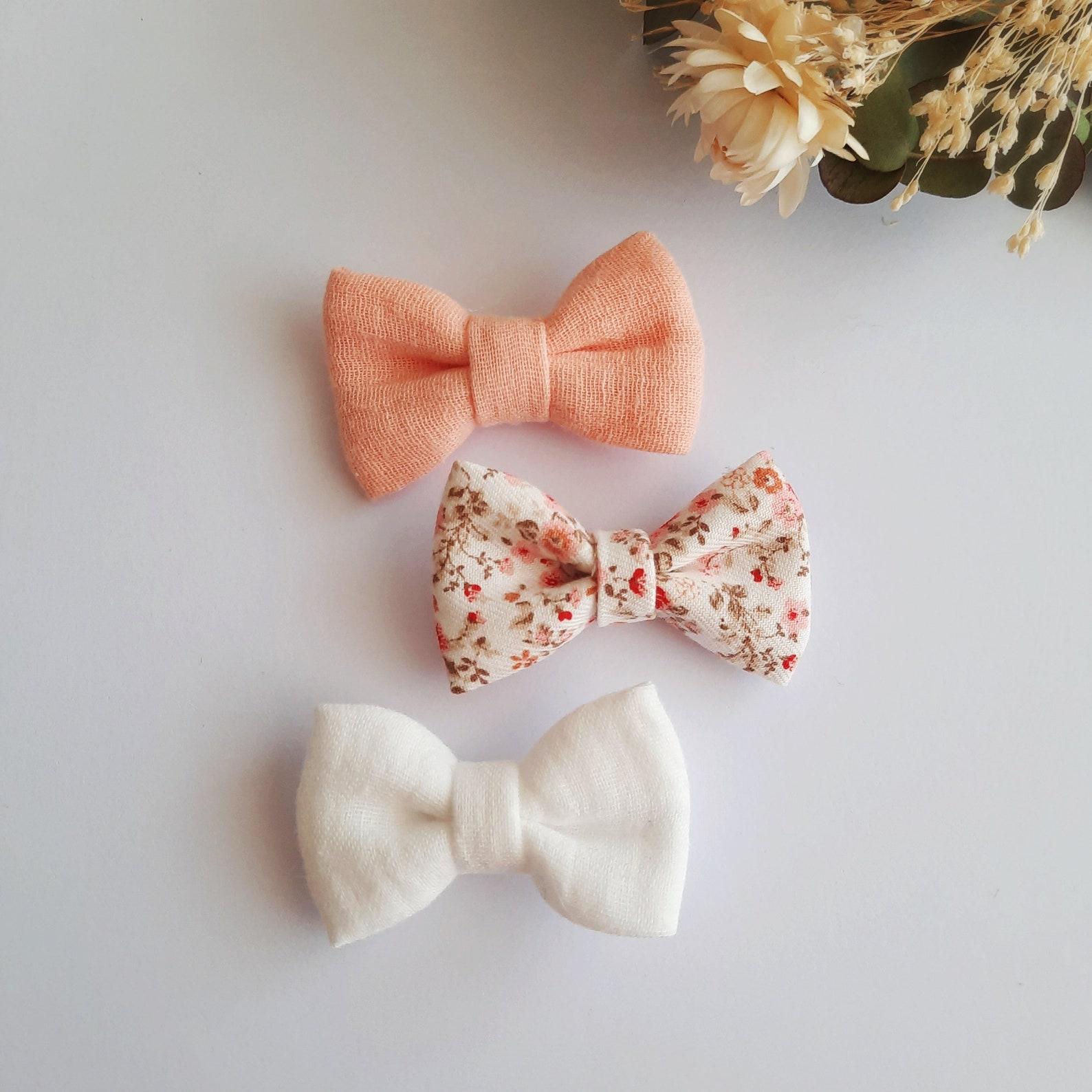 Hair bow set 3sts // 3-fach-Set mädchen Knoten Knoten
